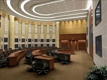 auditorium room011 3d model 3ds max 109658