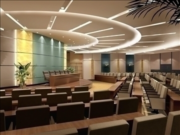 auditorium room012 3d model 3ds max 109660