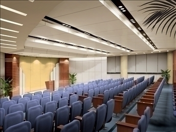 auditorium room013 3d model 3ds max 109662