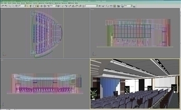 auditorium room013 3d model 3ds max 109663