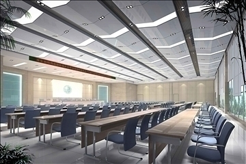 auditorium room019 3d model 3ds max 109674