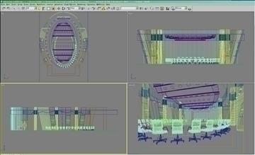 auditorium room020 3d model 3ds max 109677