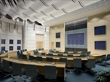 auditorium otağı021 3d model 3ds max 109678