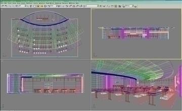 auditorium room022 3d model 3ds max 109681