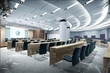 auditorium room027 3d model 3ds max 109690