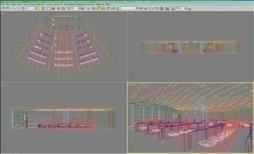 auditorium room027 3d model 3ds max 109691