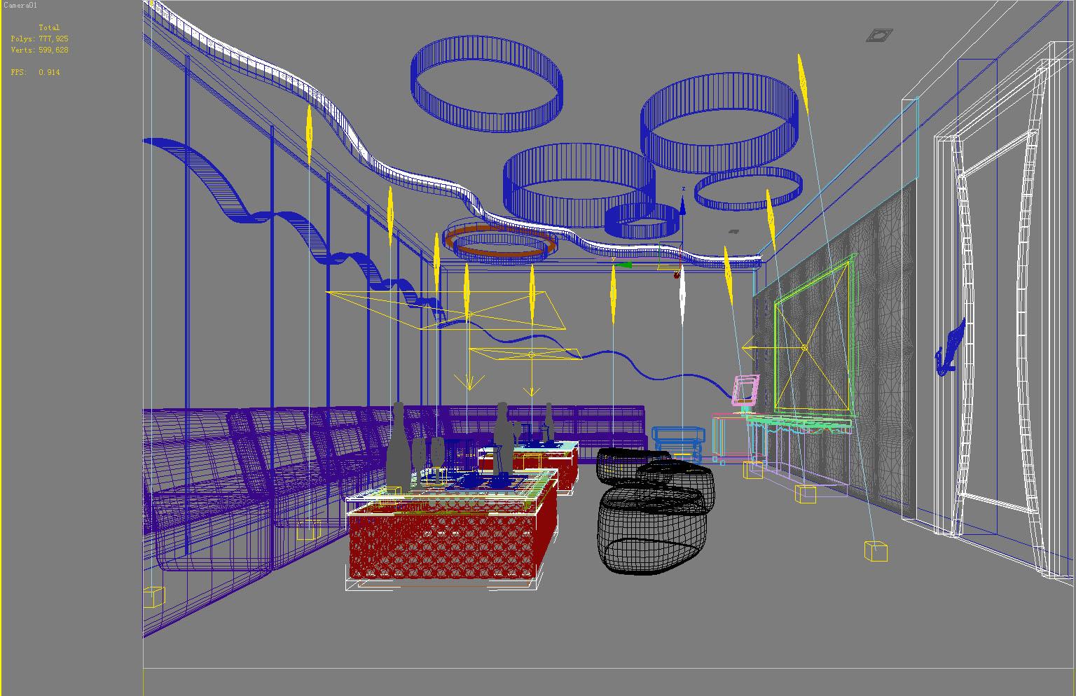 bar space 018 3d model max 125165