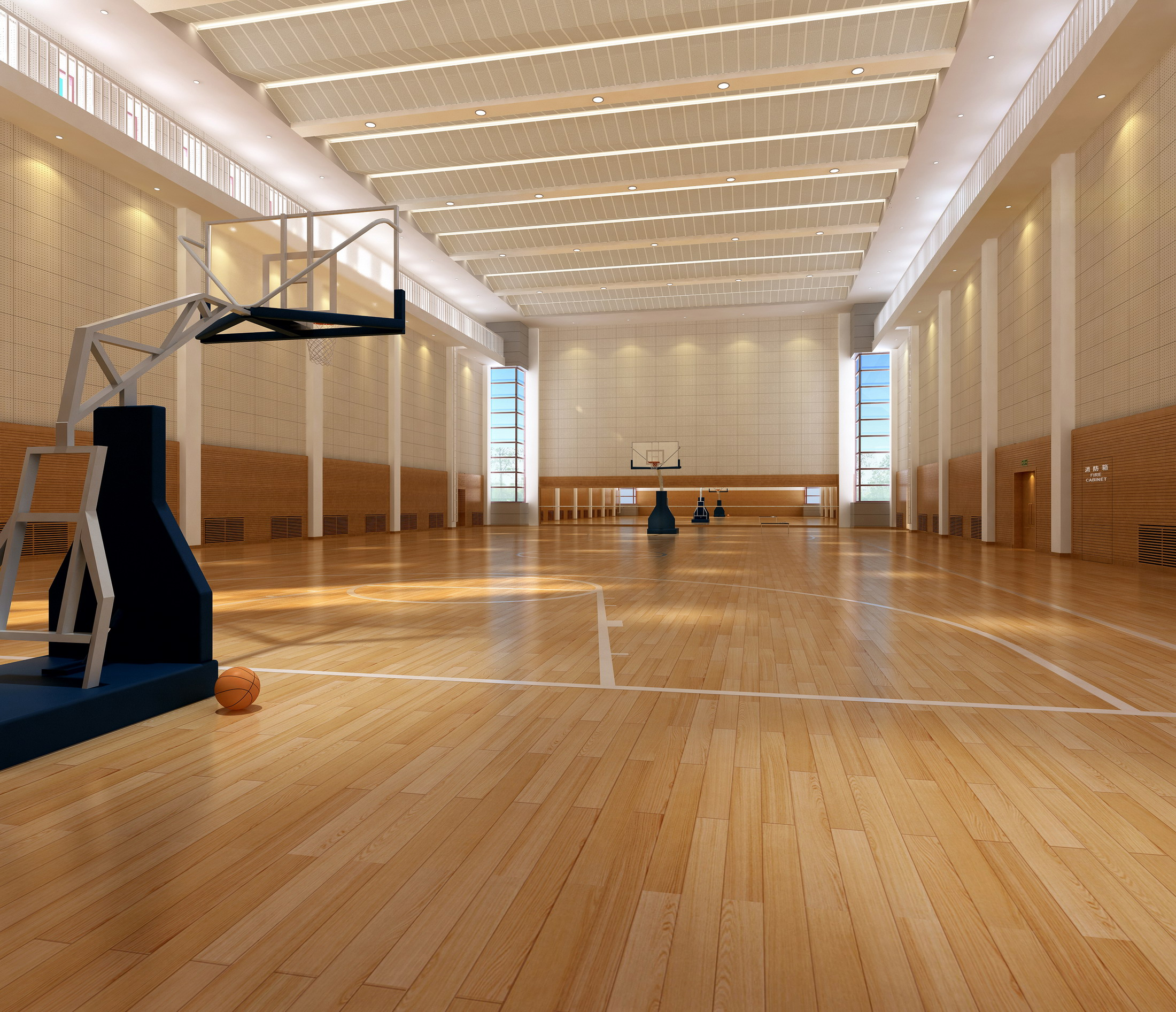 basketball gymnasium arena 002 3d model max 138832