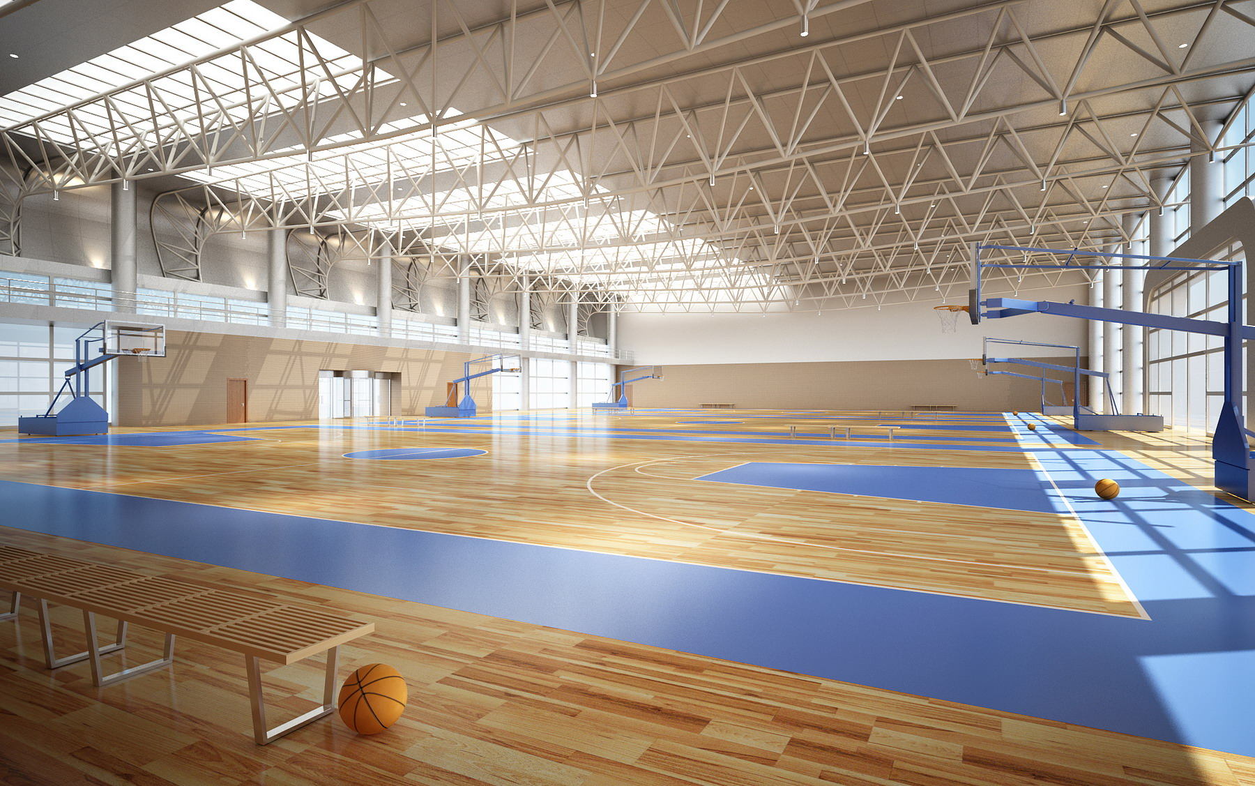 basketbalové gymnázium arena 3d model 3ds max 138829