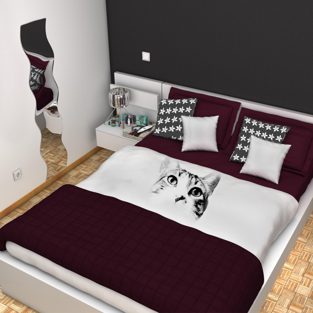 bedroom 8 3d model 3ds max fbx c4d mb mbek 159552