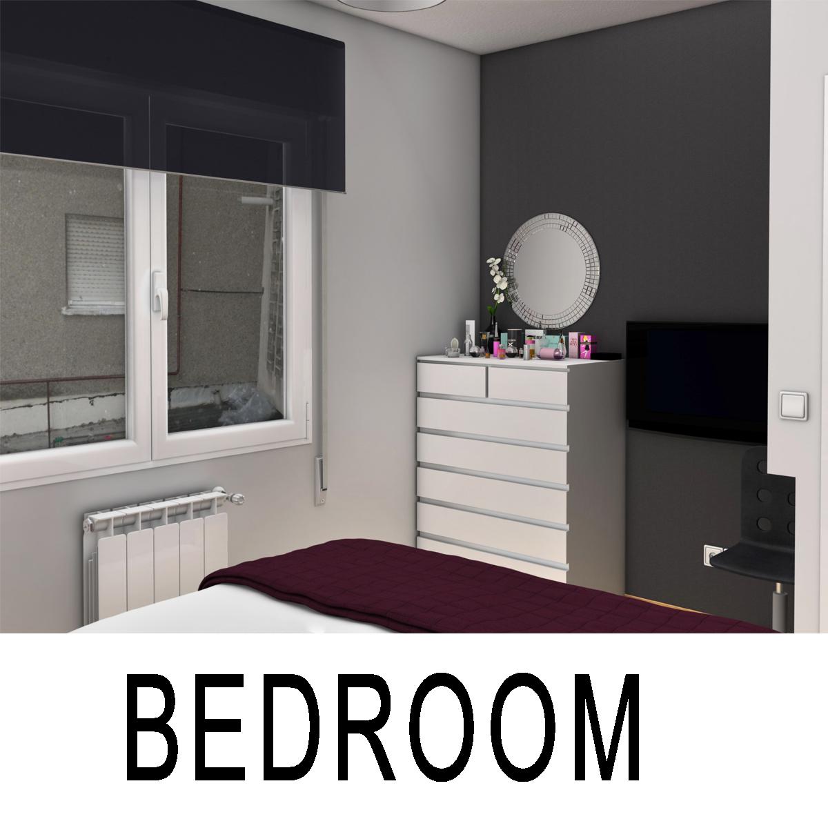bedroom 8 3d model 3ds max fbx c4d ma mb obj 159554