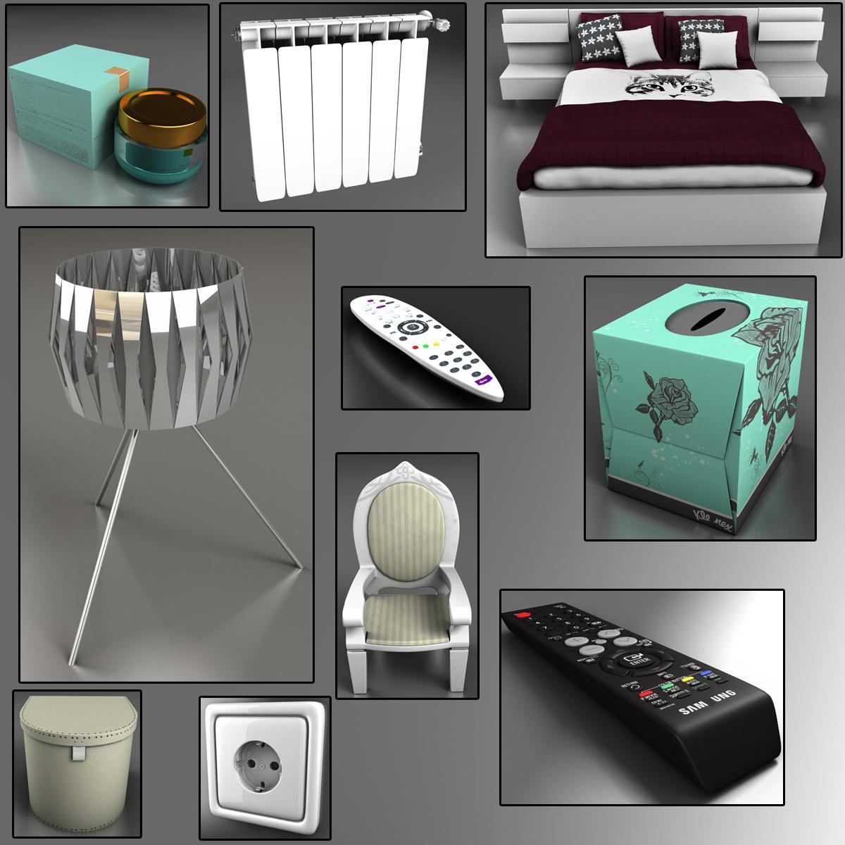 bedroom 8 3d model 3ds max fbx c4d ma mb obj 159559