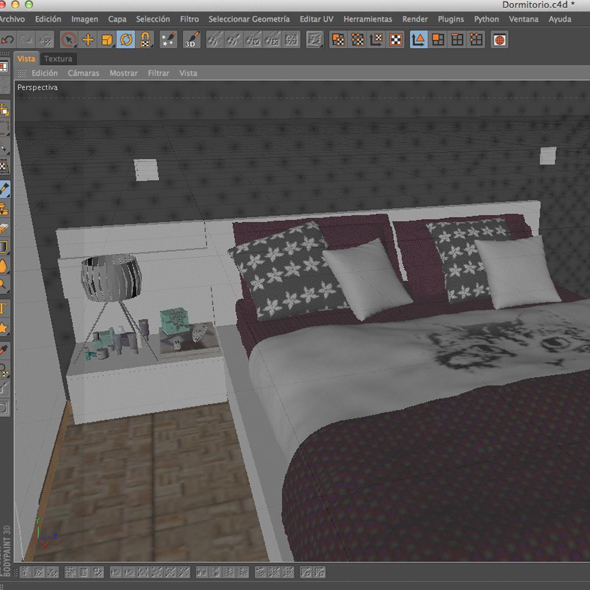bedroom 8 3d model 3ds max fbx c4d ma mb obj 159568