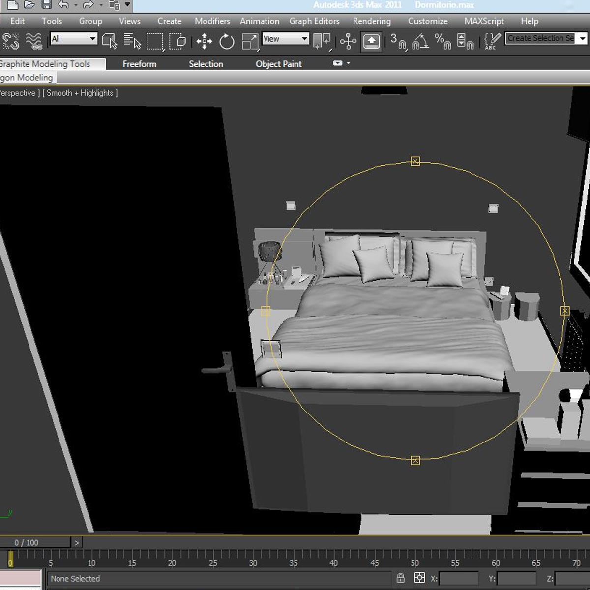 bedroom 8 3d model 3ds max fbx c4d ma mb obj 159569