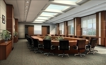boardroom 002 3d model 3ds max 82999