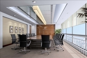 boardroom 007 3d model 3ds max 83008