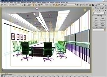 boardroom 007 3d model 3ds max 83010