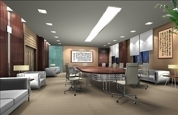 boardroom 008 3d model 3ds max 83011