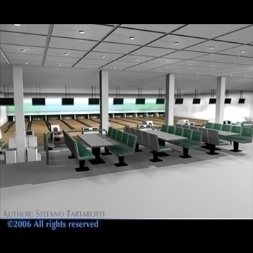 bowling building 3d model 3ds dxf c4d obj 82428
