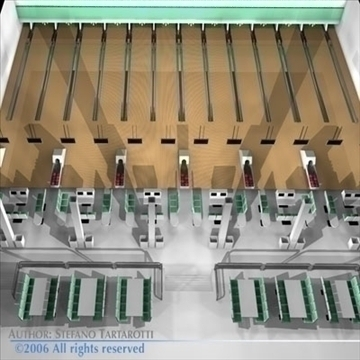 bowling building 3d model 3ds dxf c4d obj 82431