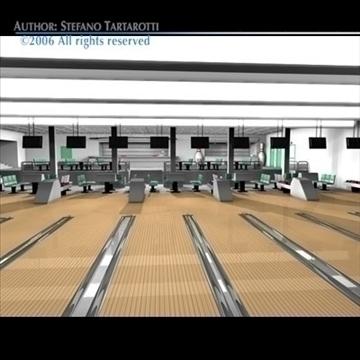 bowling building 3d model 3ds dxf c4d obj 82433