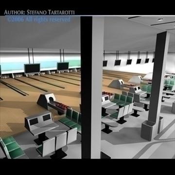 bowling building 3d model 3ds dxf c4d obj 82435