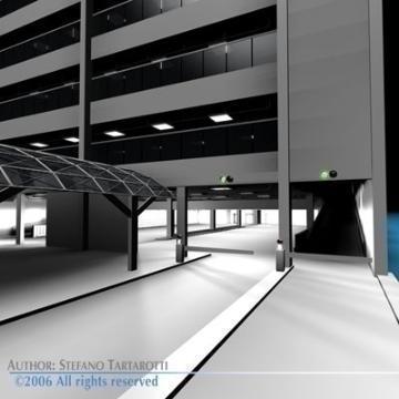 autostāvvietas ēka 3d modelis 3ds dxf c4d obj 77672