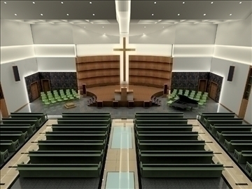 church interier 3d model 3ds max jpeg jpg 81337