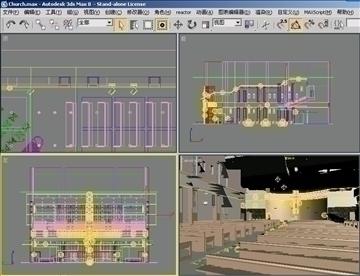 church interier 3d model 3ds max jpeg jpg 81340
