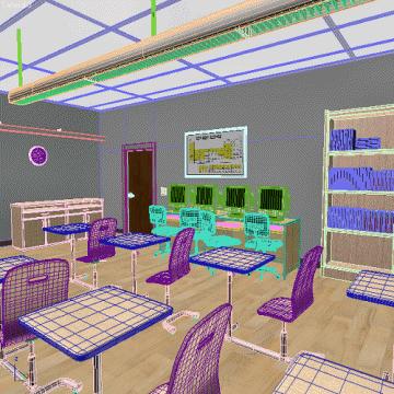 classroom 3d model 3ds max obj 77156