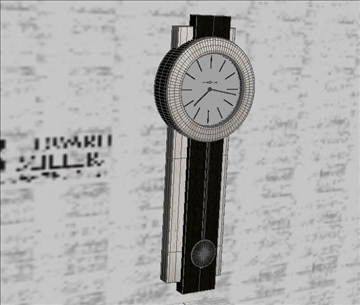 clock 3d model max 105904