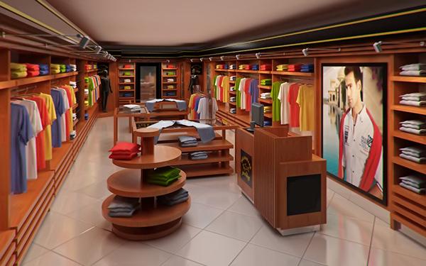 Clothing Store Interior For Men And Women Render 3d Model