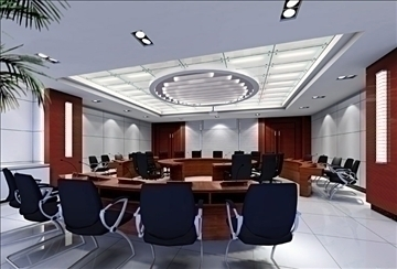 conference 015 3d model 3ds max 89985