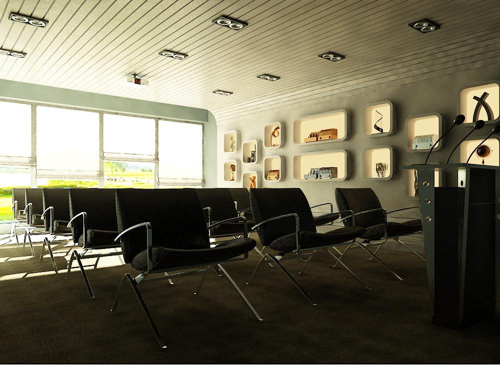 conference room auditorium 017 3d model max 139000