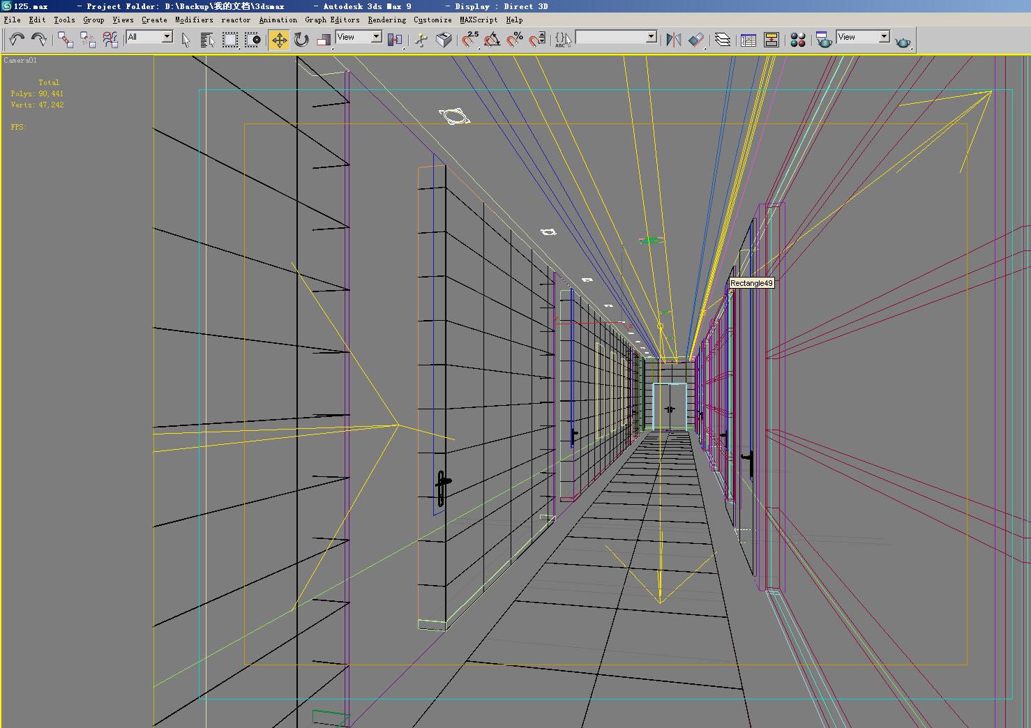 corridor 033 two 3d model max 139505