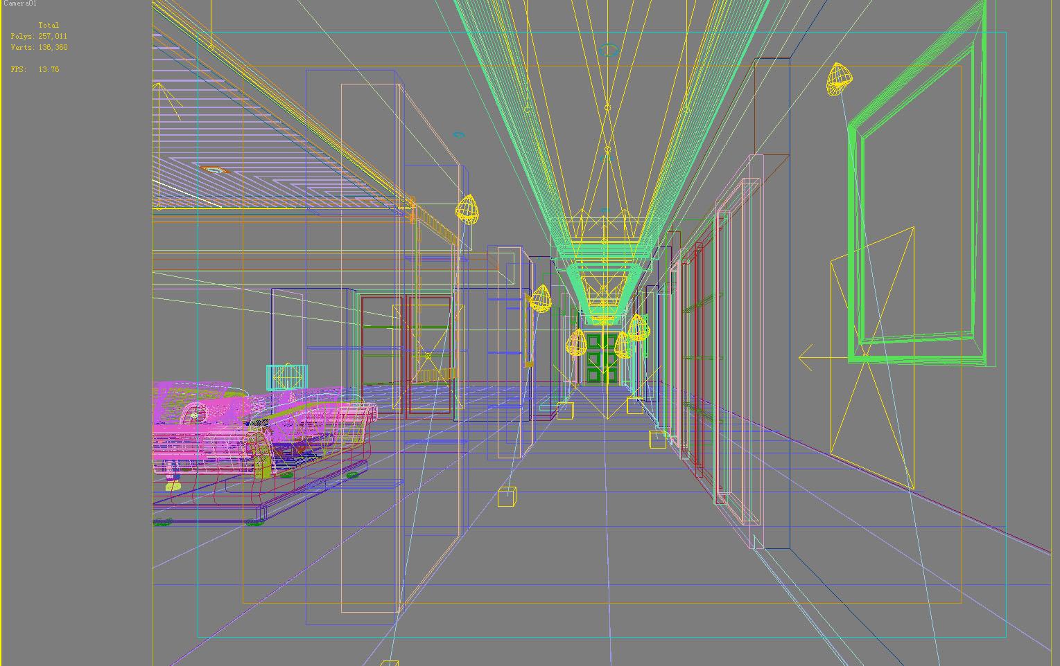 corridor 038 two 3d model max 139515