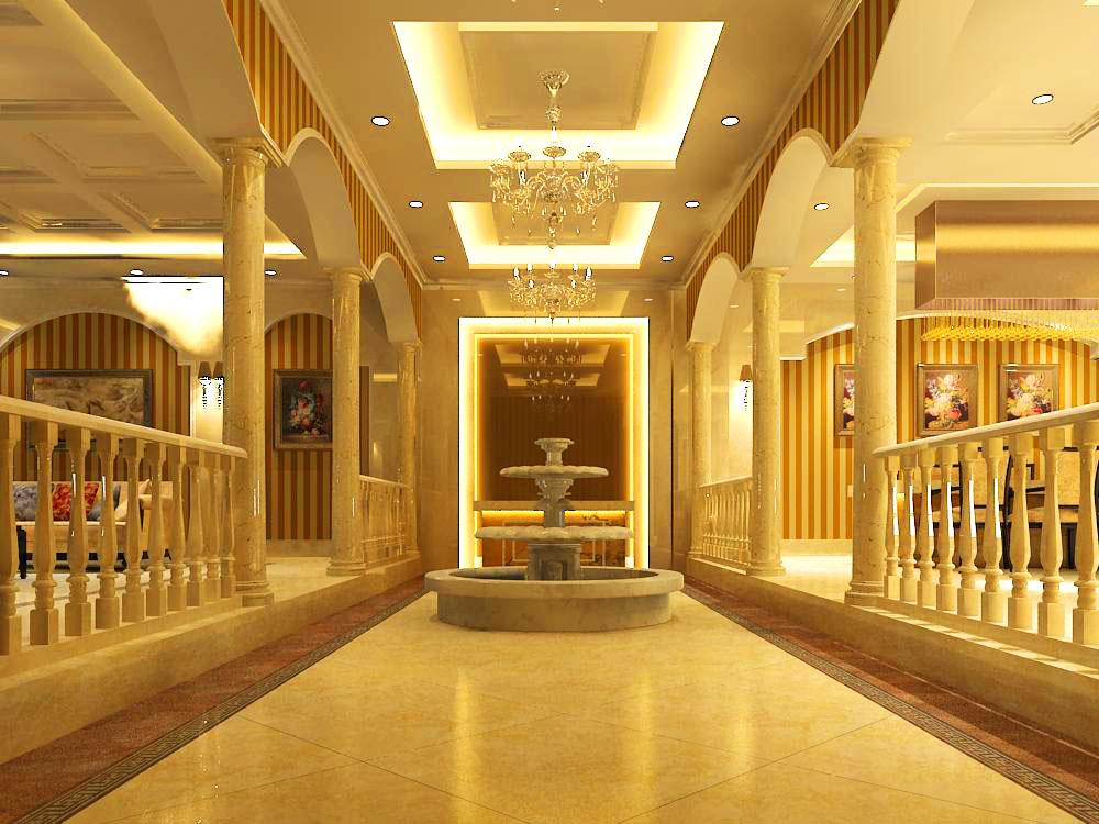 corridor space 010 3d model max 133937