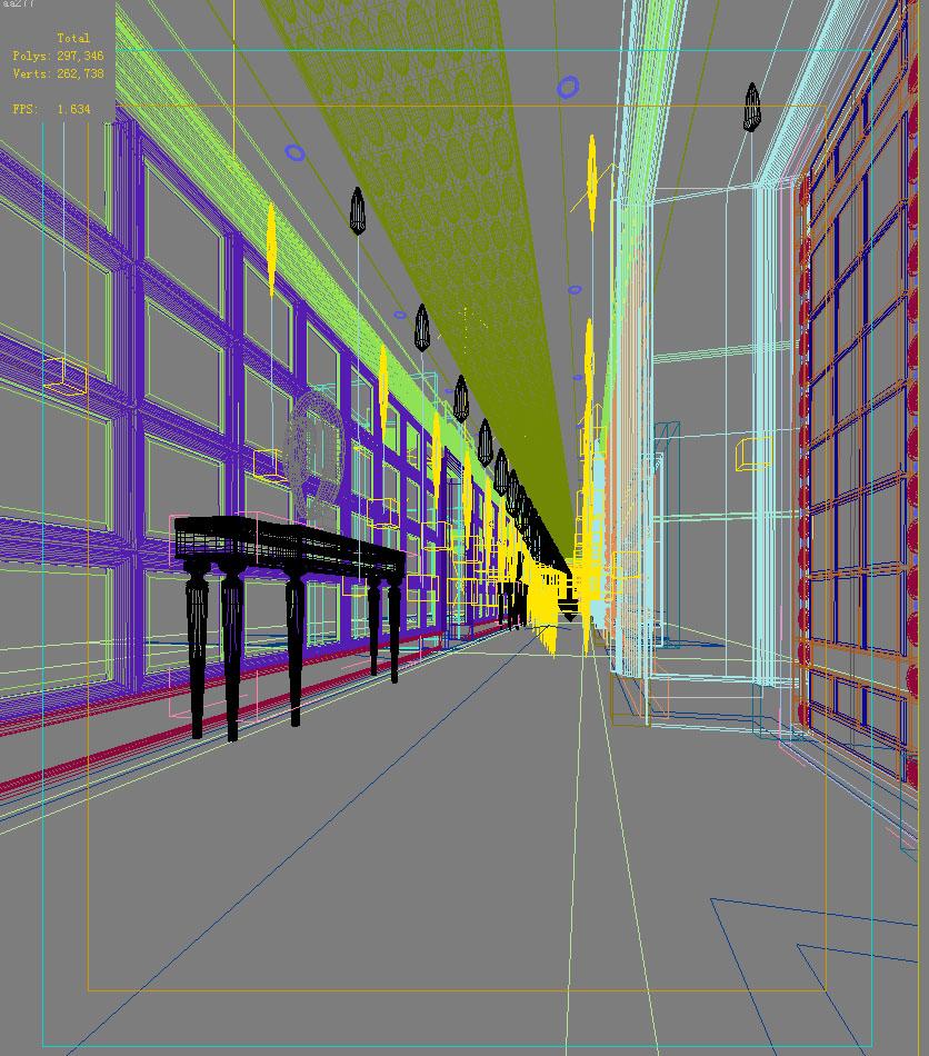 corridor space 013 3d model max 134018