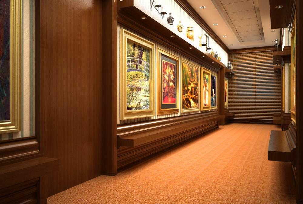 corridor space 017 3d model max 134023