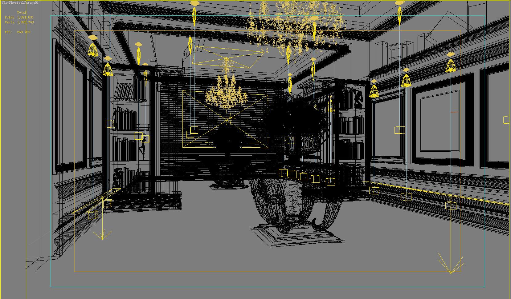 corridor space 018 3d model max 134232