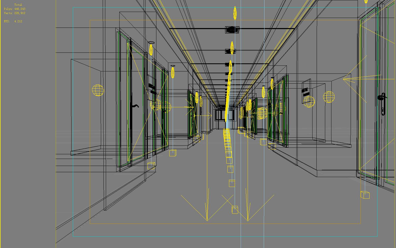 corridor space 020 3d model max 134236