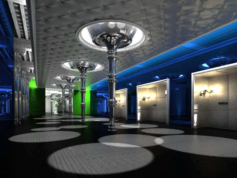 corridor space 025 3d model max 134253