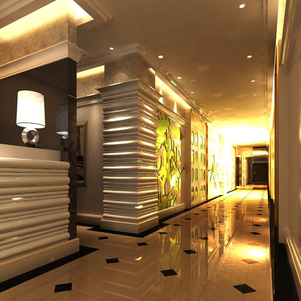 corridor space 026 3d model max 134255