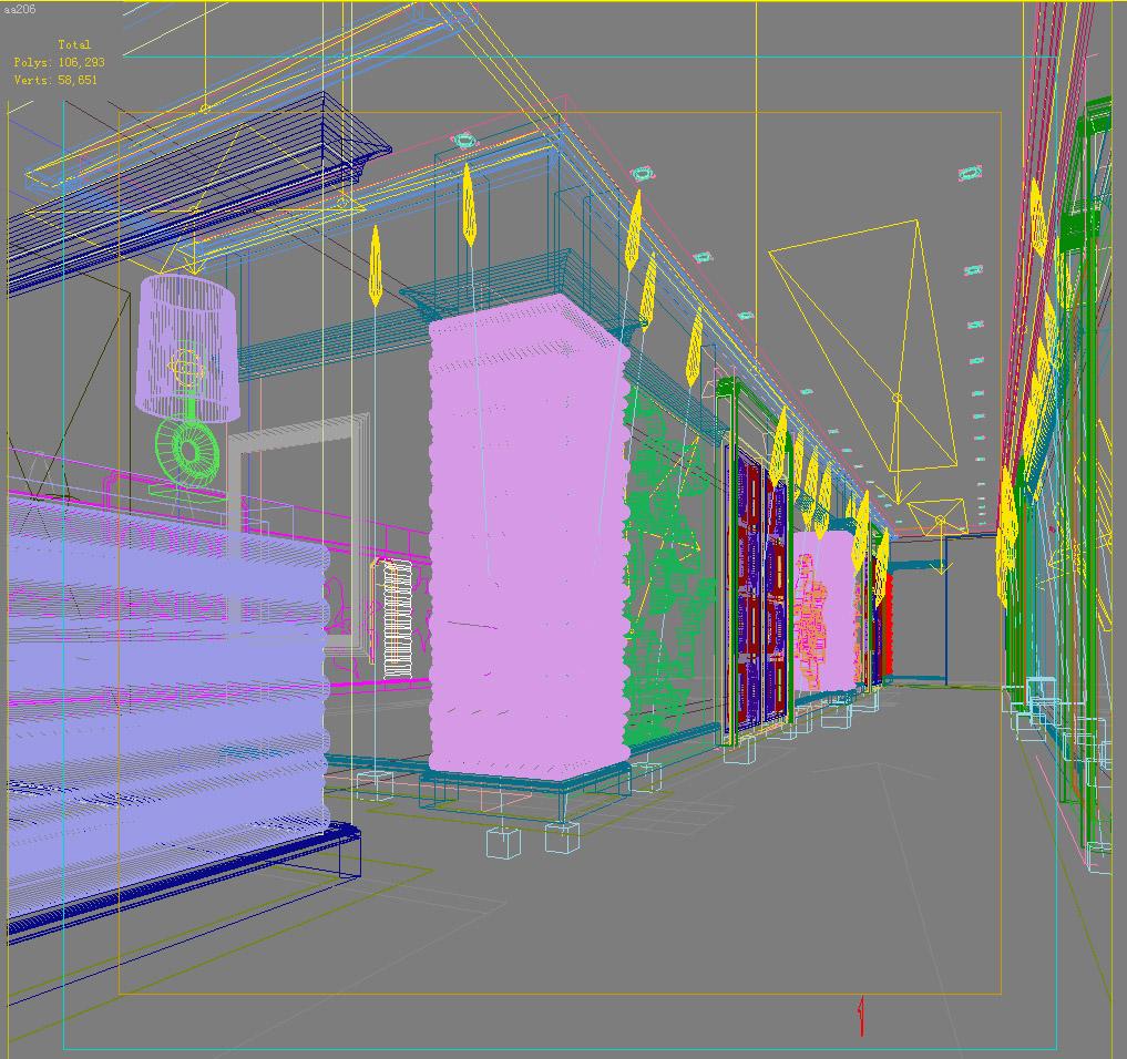 corridor space 026 3d model max 134256