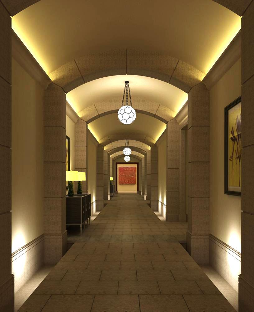 corridor space 028 3d model max 134517