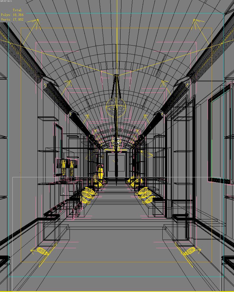 corridor space 028 3d model max 134518