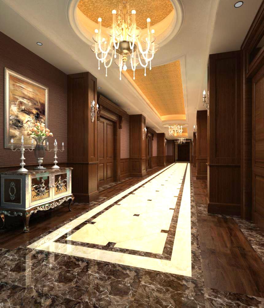 corridor space 029 3d model max 134519