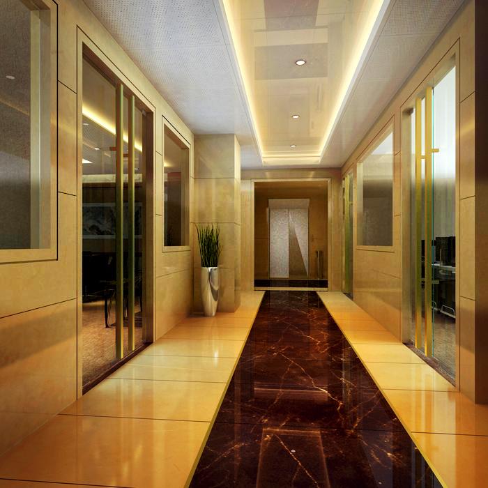 corridor space 030 3d model max 134521