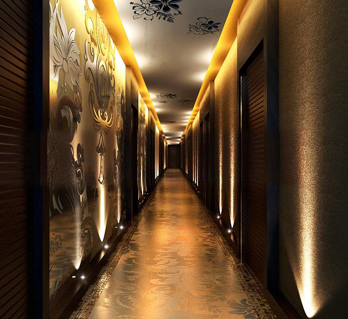 corridor space 031 3d model max 134523
