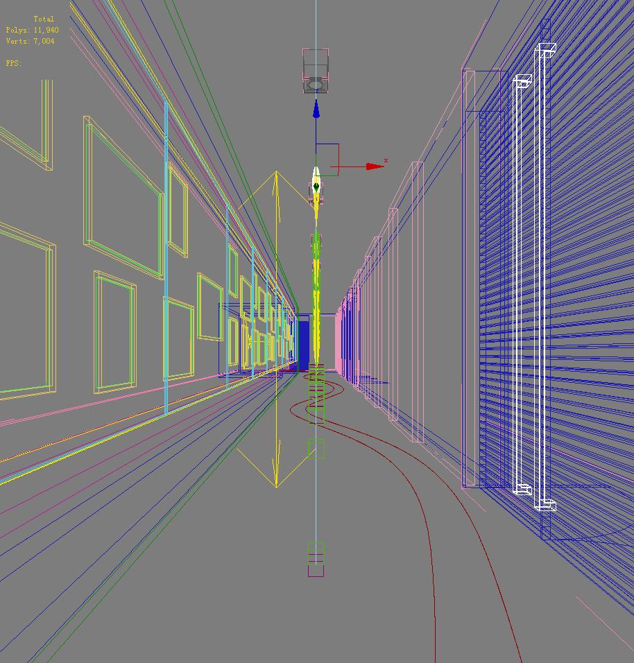 corridor space 032 3d model max 134526